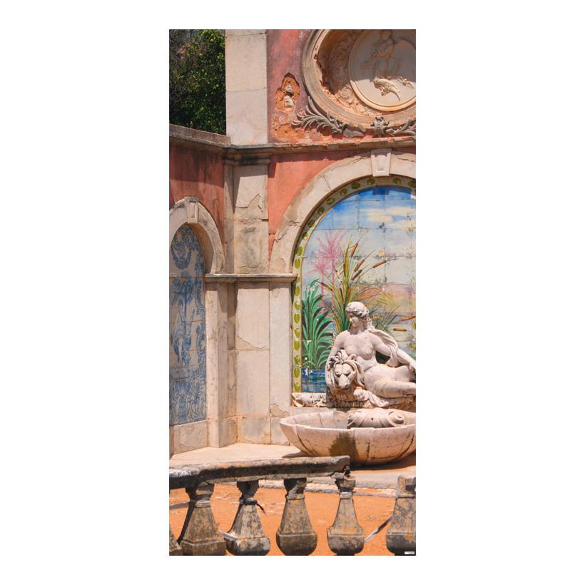 "# Motivdruck ""Verfallene Villa"", 180x90cm Stoff"