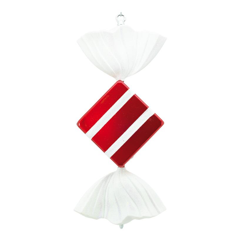 Bonbon, 50cm, quadratisch, mit Hänger+Glitter, Kunststoff