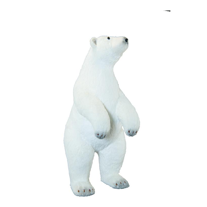Eisbär, 80x32x34cm stehend, mit Glitter, aus Styropor/Kunstfell