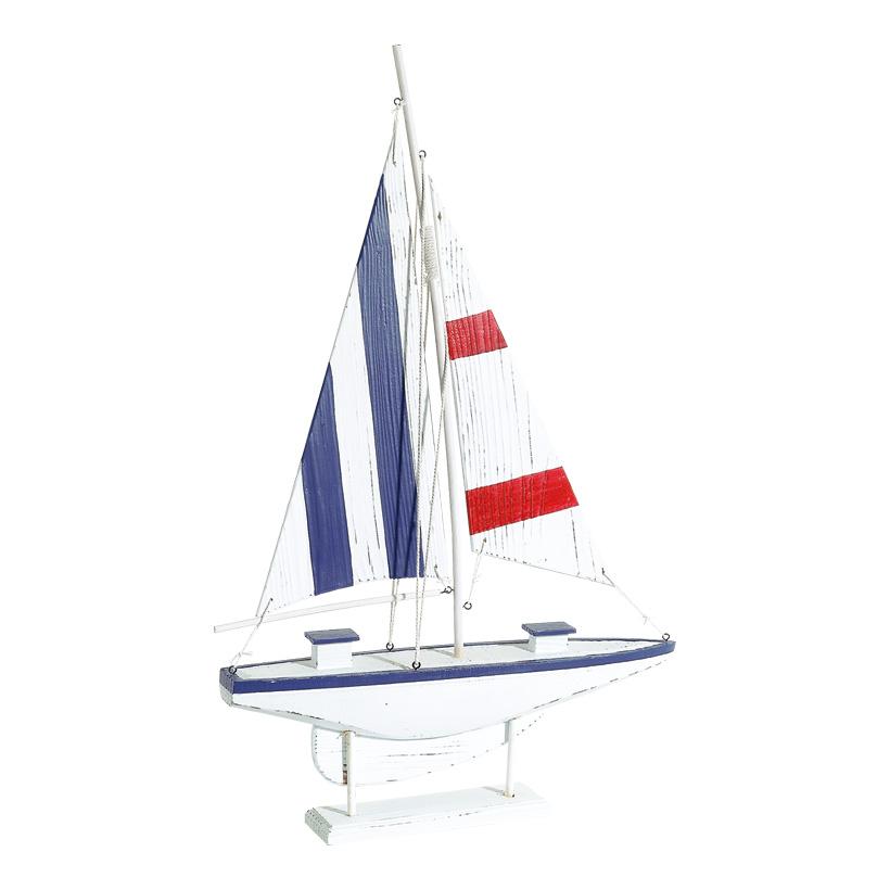 # Segelschiff aus Holz, 67x42x7cm, mit Holzfuß