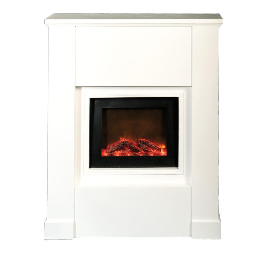 #Kamin mit Feuerstelle, 67x21x80cm elektrisch, 300cm Zuleitung, für den Innenbereich