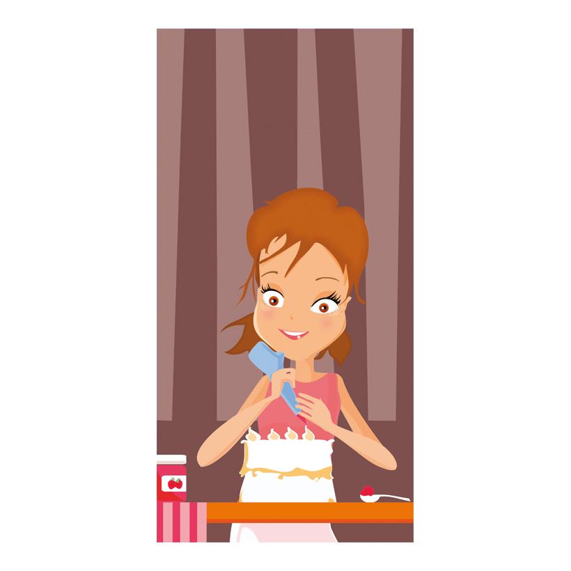 """# Motivdruck """"Baking cake"""", 180x90cm Papier"""