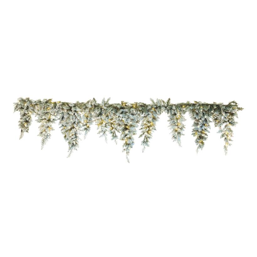 #Edeltannenfries beschneit, Ø 30cm, 270cm, 100 LED, Zapfenlänge: 50, 60, 70cm, für außen