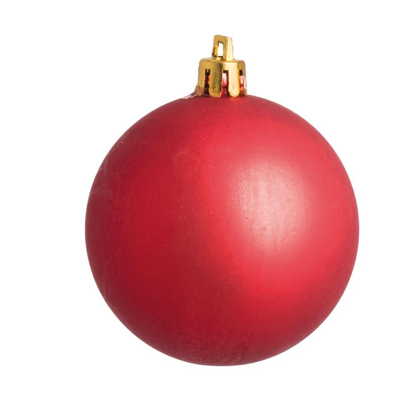 Weihnachtskugel, rot matt, Ø 8cm 6 St./Karton