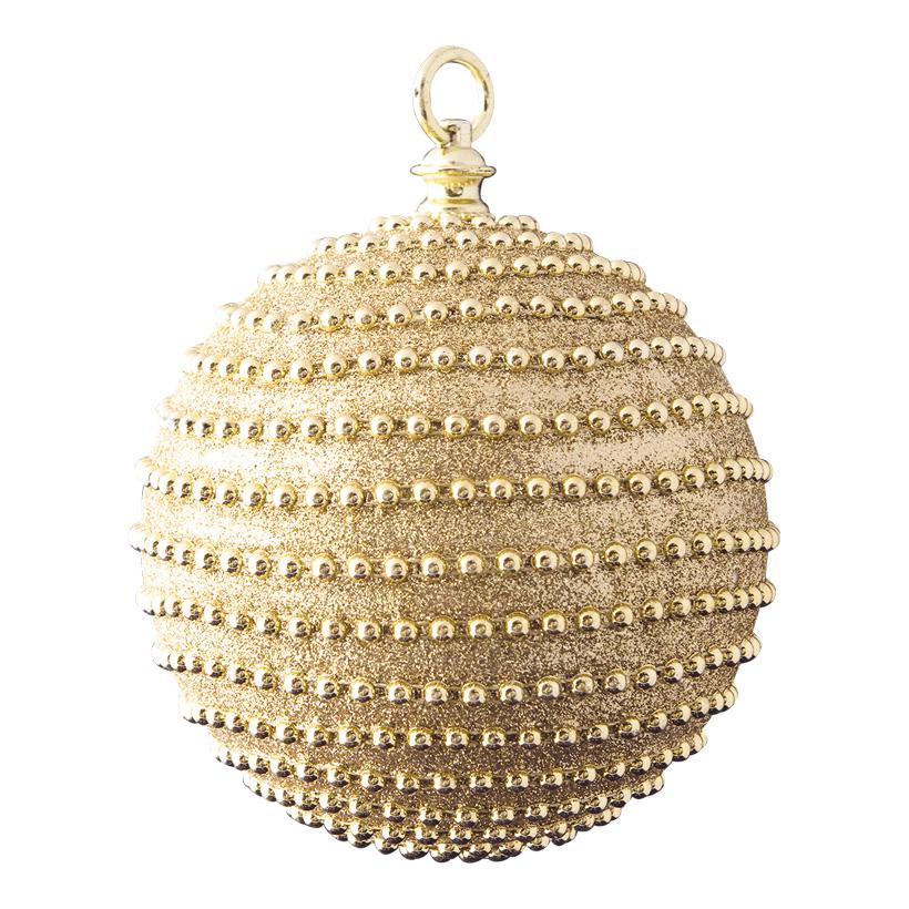 Weihnachtskugel, Ø 15cm dekoriert mit Perlen & Glitter