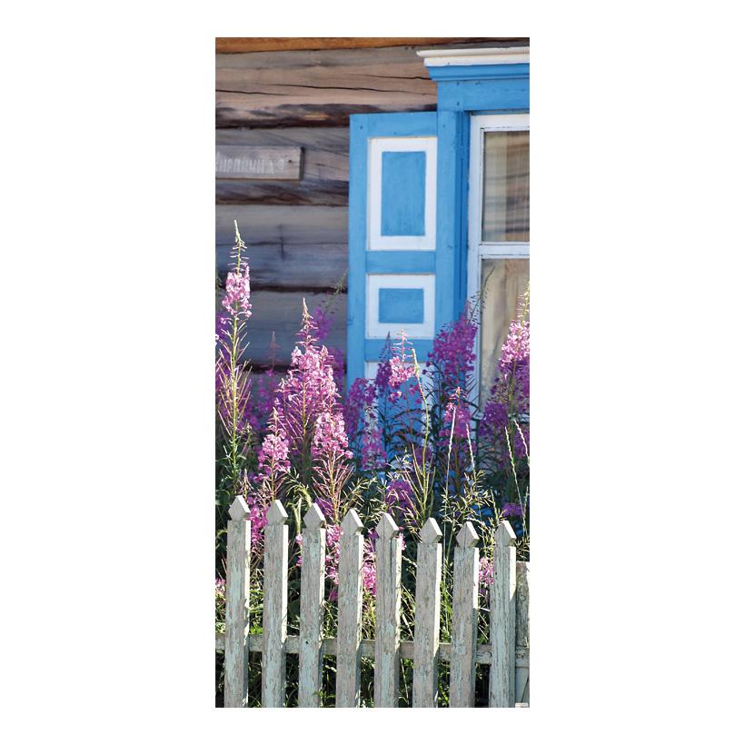 "# Motivdruck ""Bauerngarten"" 180x90cm Papier"