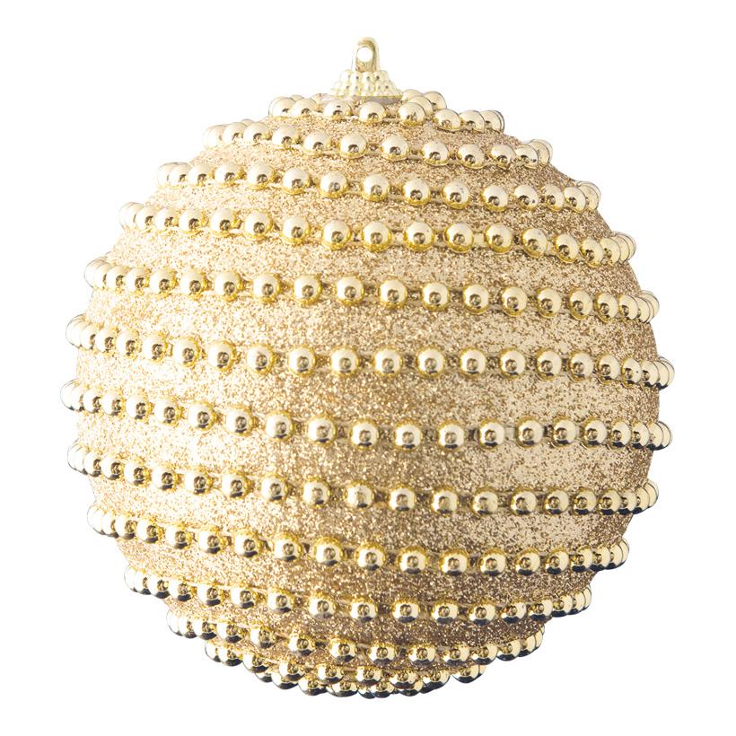Weihnachtskugel, Ø 12cm dekoriert mit Perlen & Glitter