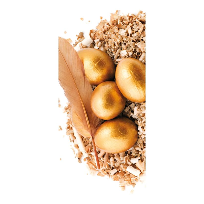 """# Motivdruck """"Goldene Eier"""", 180x90cm Stoff"""