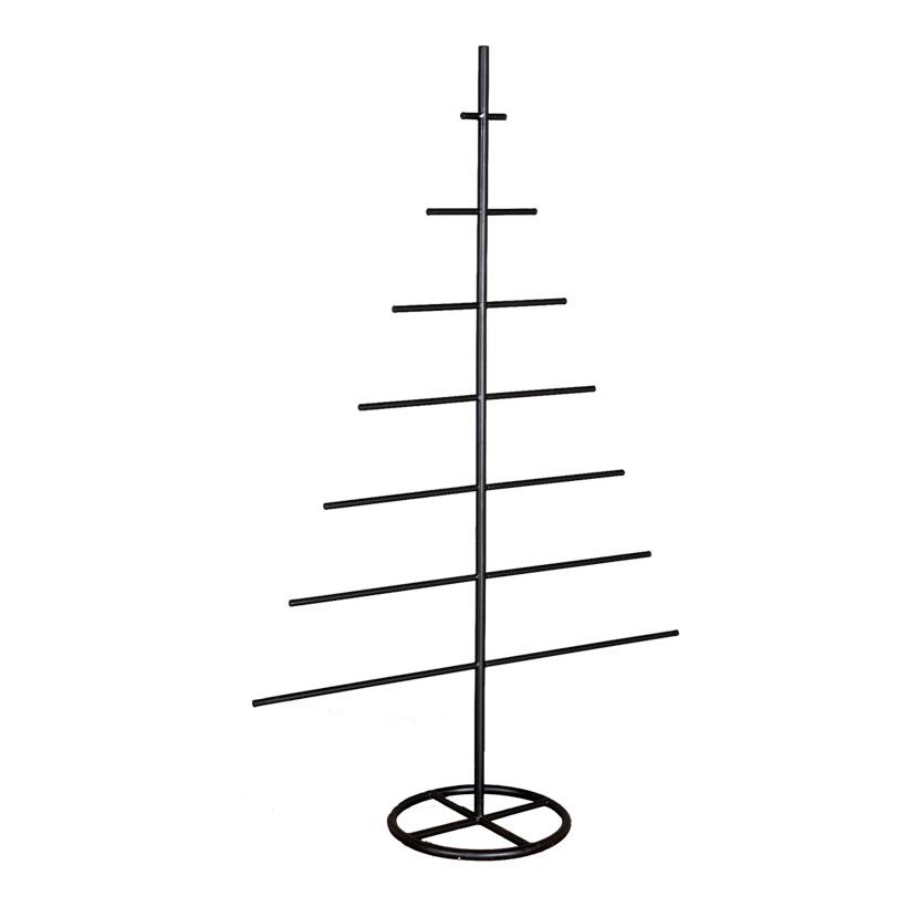 Baumkontur, 30x80x125cm mit 7 Querstreben, aus Metall, zum Dekorieren oder als Warenpräsenter, 3-teilig