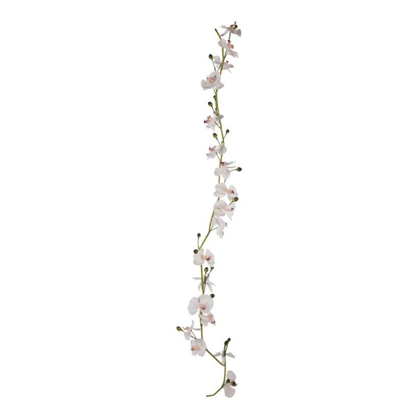 # Orchideengirlande, 180cm, 18 Blüten, Kunststoff, Draht biegsam