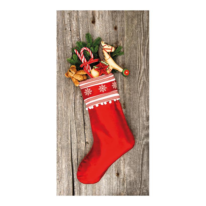 """# Motivdruck """"Weihnachtsstrumpf"""", 180x90cm Stoff"""