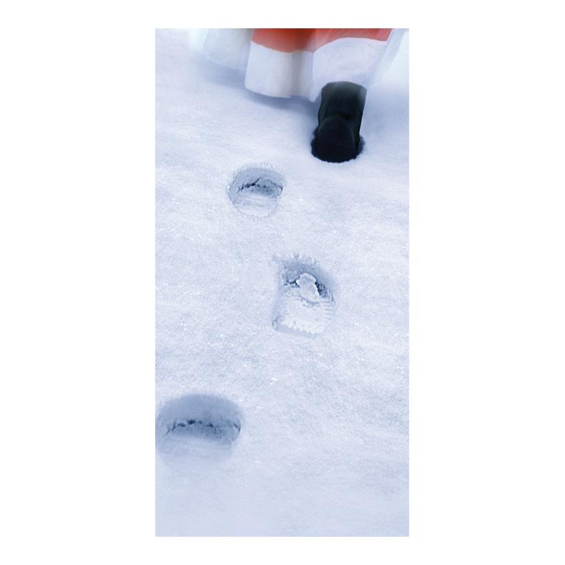 """# Motivdruck """"Santa im Schnee"""", 180x90cm aus Papier"""