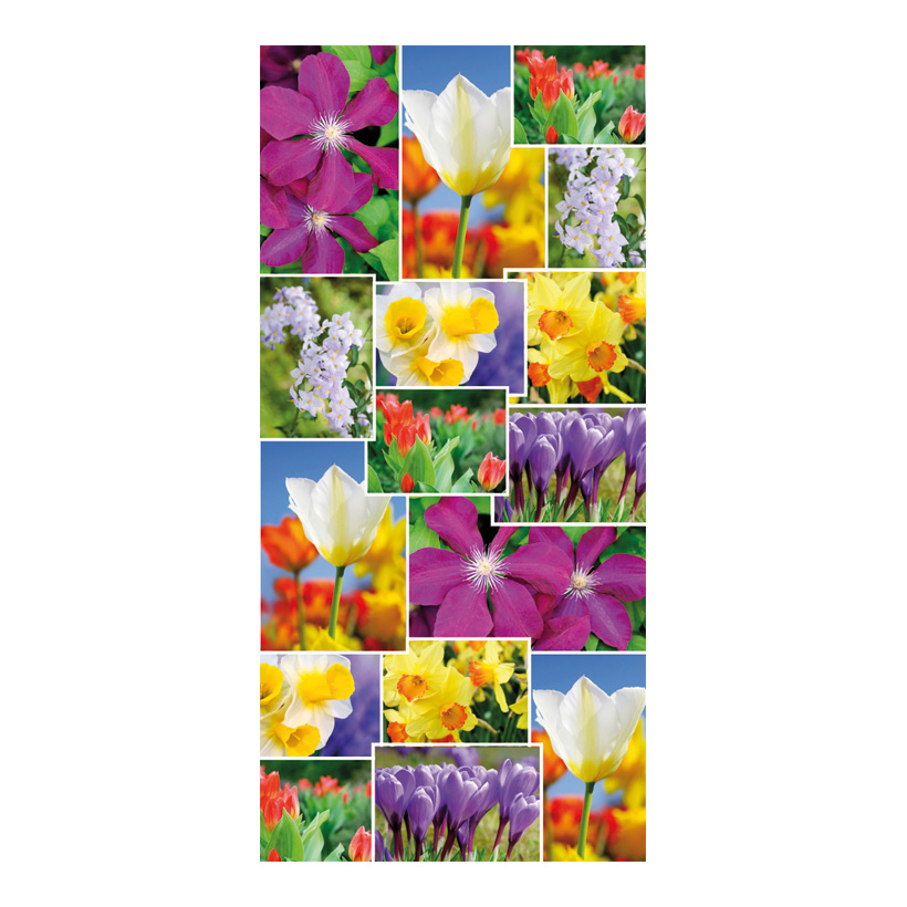 "# Motivdruck ""Flowercollage"", 180x90cm Papier"