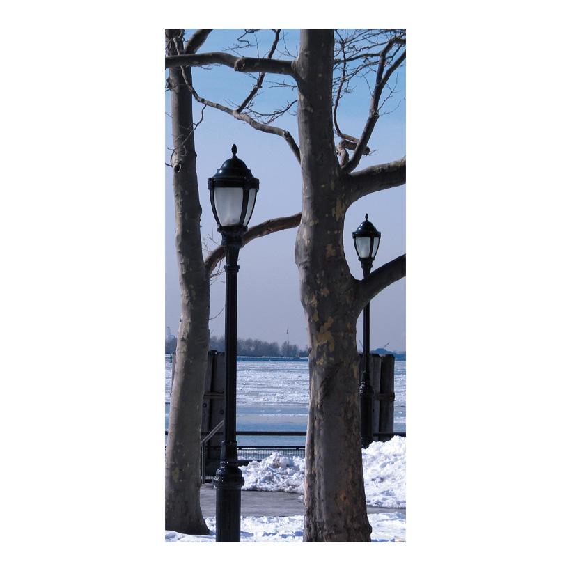 "# Motivdruck ""Winterpark"", 180x90cm Papier"