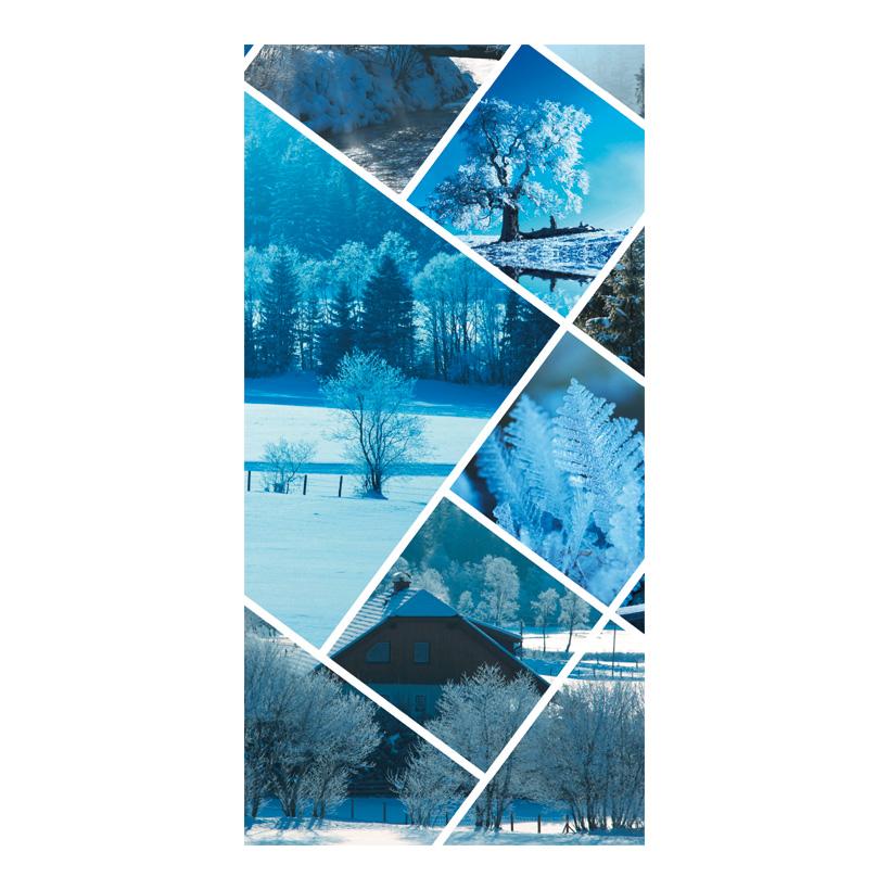 "# Motivdruck ""Wintercollage"", 180x90cm Papier"