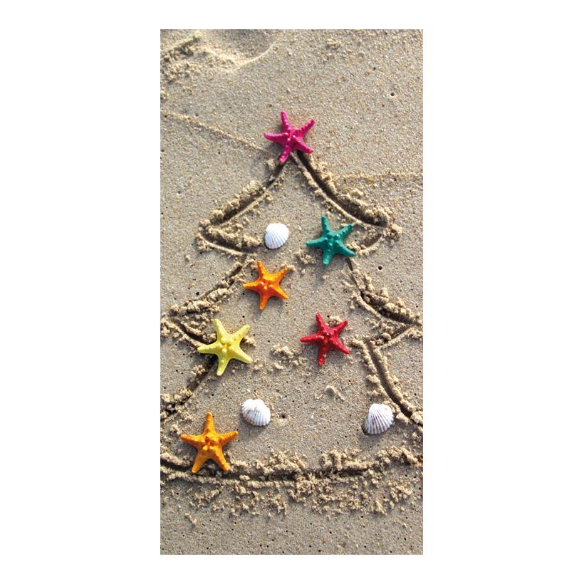 "# Motivdruck ""Christmas on the beach"", 180x90cm Stoff"