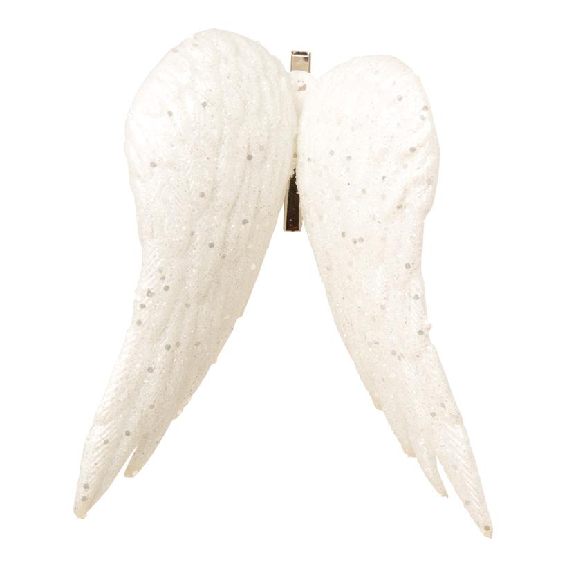 Engelsflügel, 15cm, 4Stck./Blister, mit Clip, Kunststoff