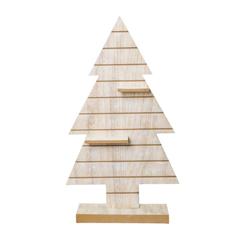 Holzbaum, 60x34x11cm mit Regalbrettern, mit Standfuß