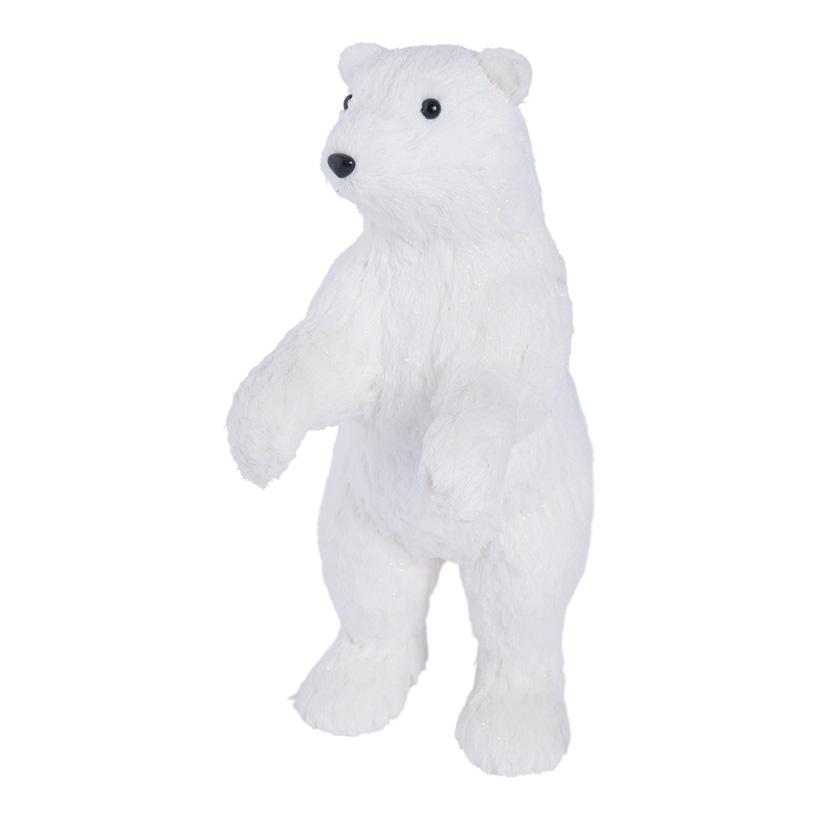 Eisbär, stehend, 40cm Styropor & Holzfaser