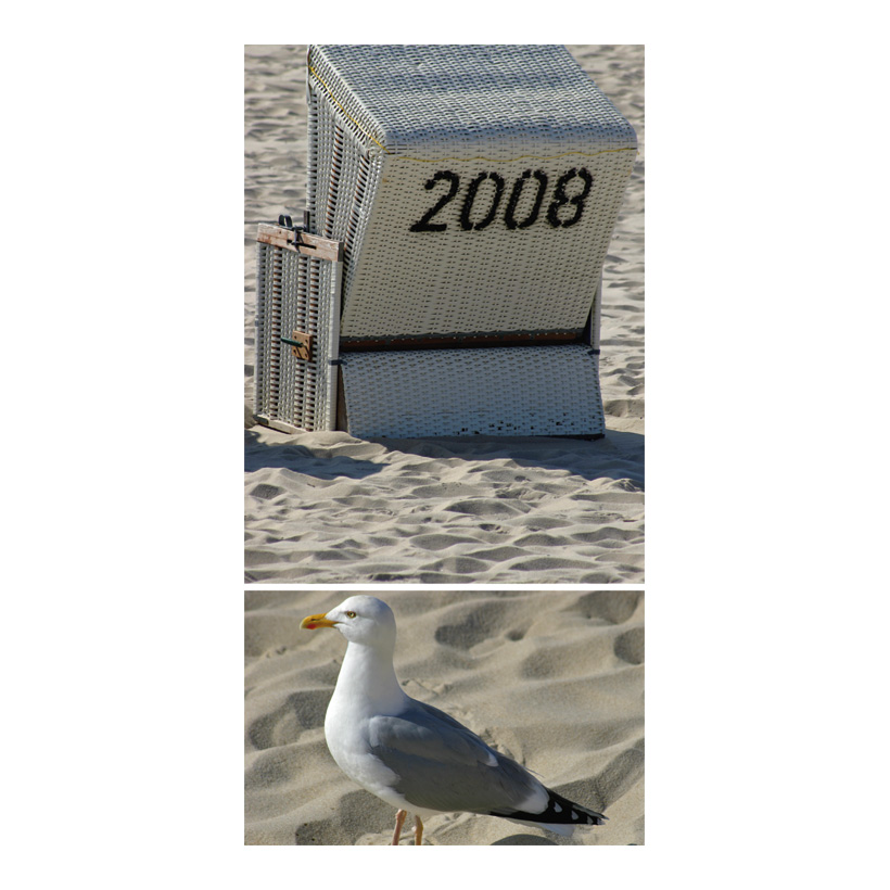 "# Motivdruck ""Am Strand"", 180x90cm Papier"