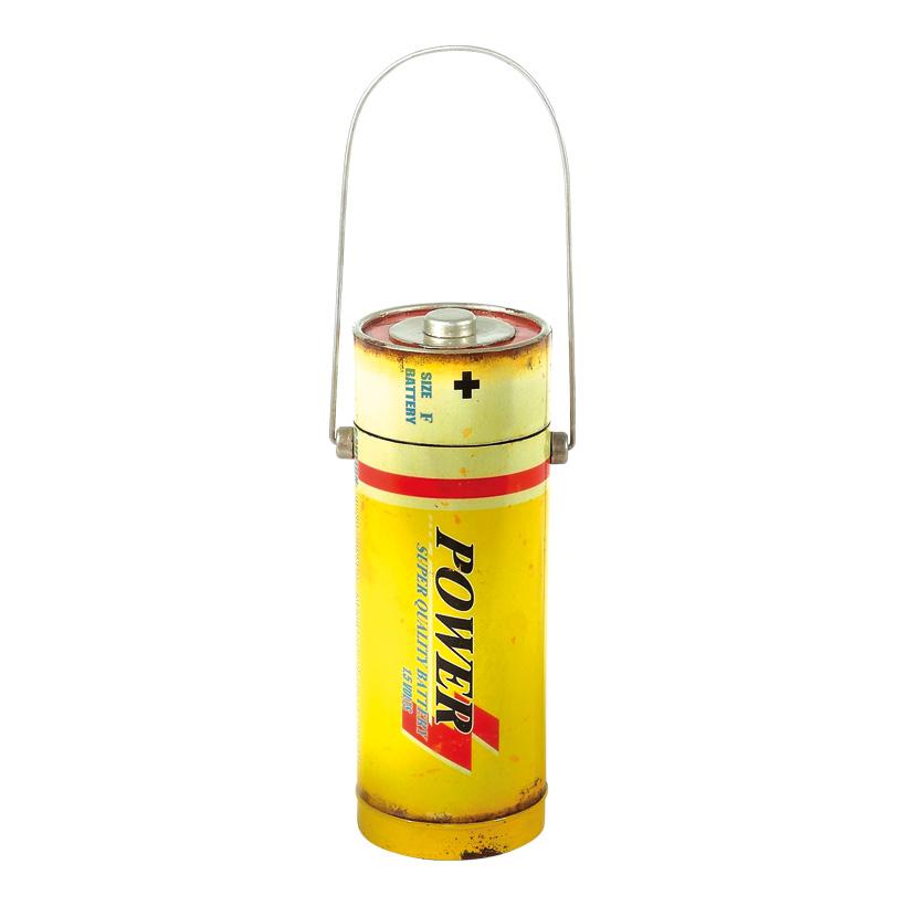 # Batterie 12,5x34 cm Metall, antik-look,, mit Deckel
