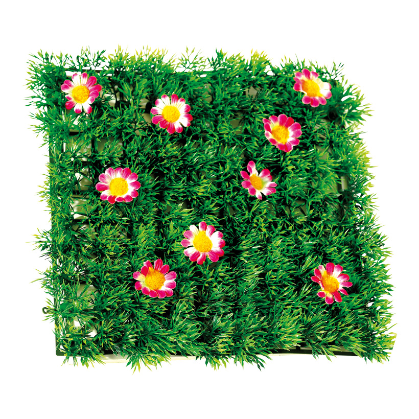 # Blumenpaneel 26 x 26 cm Kunststoff/Textil