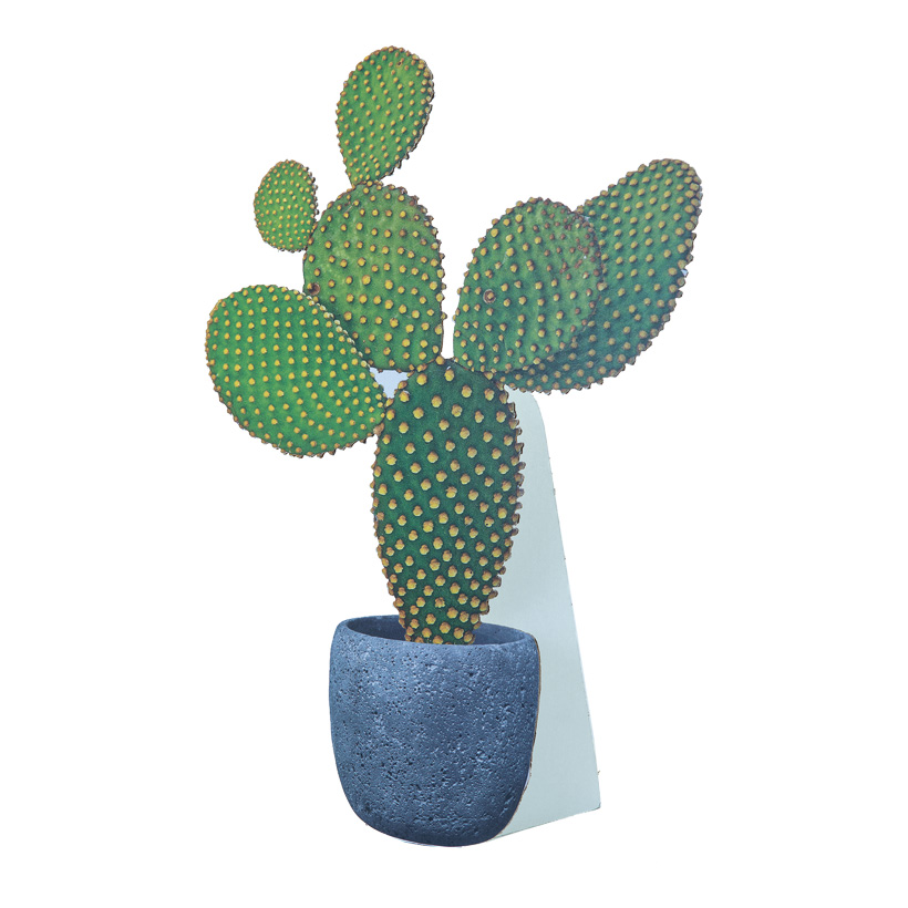 "# Cut-out ""Kaktus 1"", 38x55cm, mit klappbarer Pappstütze, aus Pappe"