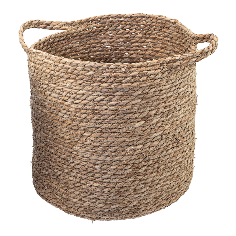 Flechtkorb, Ø: 33cm H: 35cm aus getrocknetem Seegras