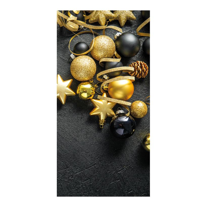 """# Motivdruck """"Weihnachten schwarzgold"""", 180x90cm Stoff"""