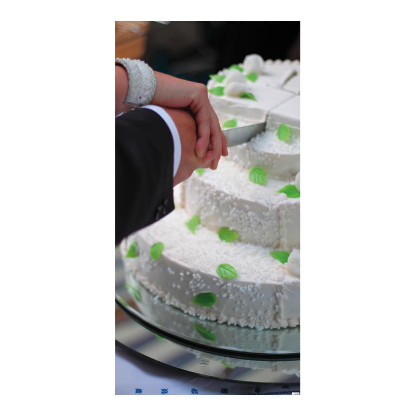 """# Motivdruck """"Hochzeitstorte"""", 180x90cm Stoff"""