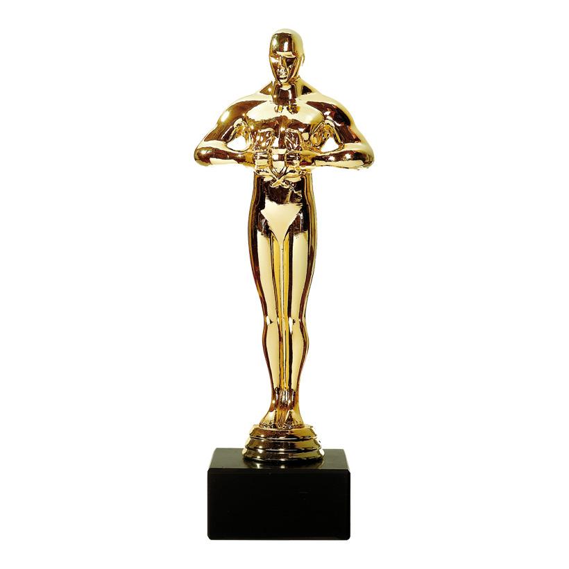 "# Figur ""Filmpreis"", 23cm, auf schwarzem Sockel, Kunststoff"