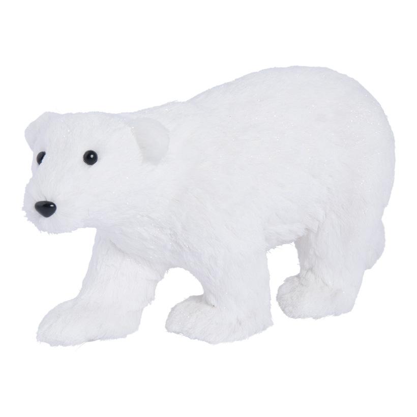 Eisbär, laufend, 43x27cm Styropor und Holzfaser