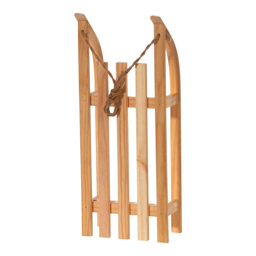 Deko-Schlitten, 50x21x11cm, Holz, mit Ziehschnur