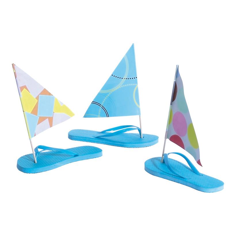 # Segelboot Flip-Flop 9x25x23 cm Kunststoff, 3-tlg.