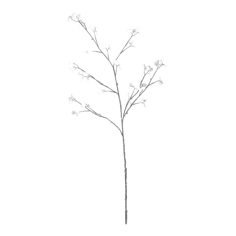 Schneeballzweig, 100cm, weiß beglittert