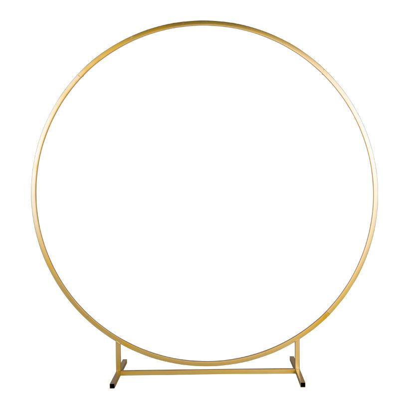 Kreisdisplay, Ø 150cm 5-teilig, aus Metall, steckbar, Vierkantrohr, mit 6 Schrauben in gold
