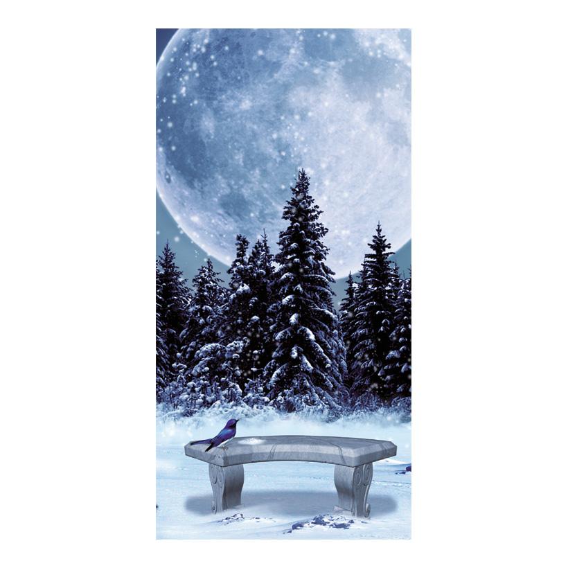 "# Motivdruck ""Winternacht"", 180x90cm Papier"