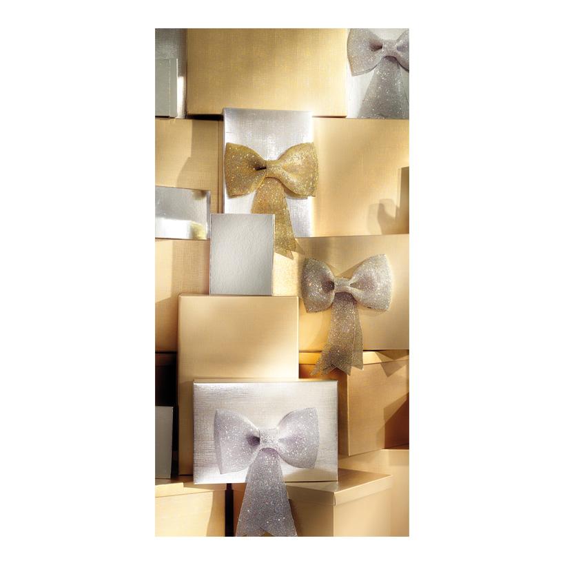 "# Motivdruck ""Goldpäckchen"", 180x90cm Stoff"