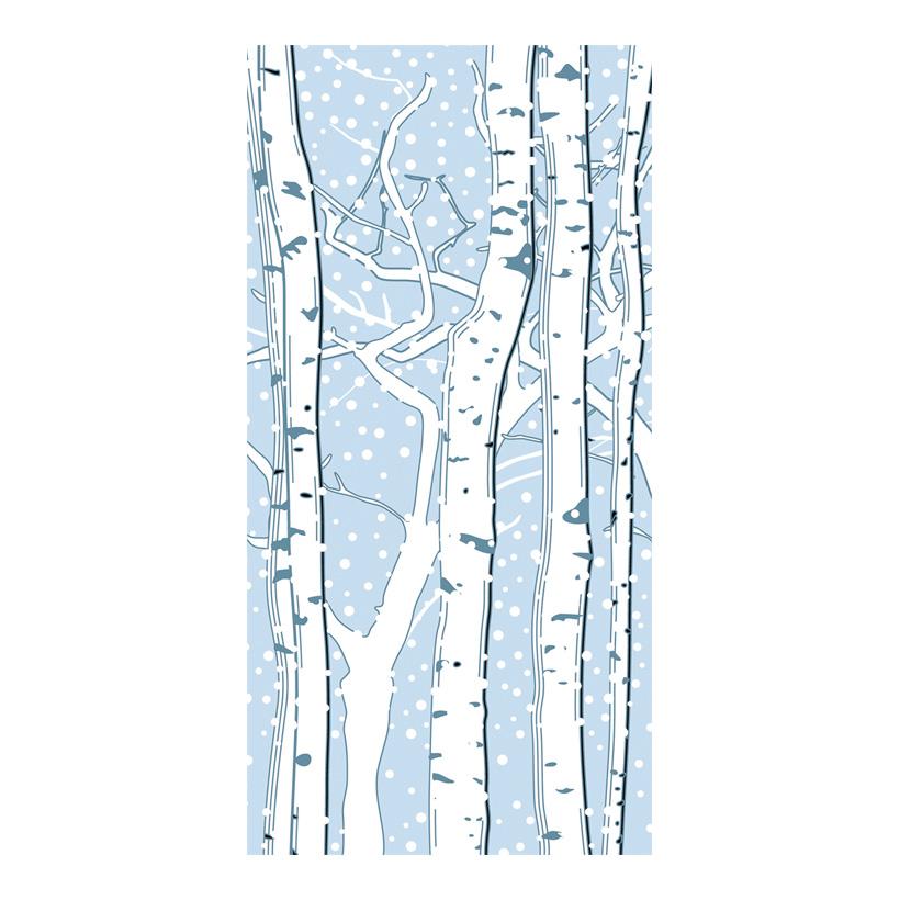 """# Motivdruck """"Birken im Schnee"""", 180x90cm Stoff"""
