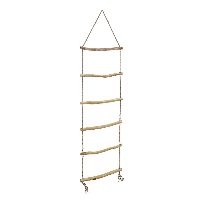 Strickleiter 150x40 cm (LxB) Tau/Holz, 6 Sprossen