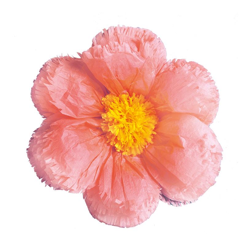 Papierblüte, Ø40cm mit Hänger