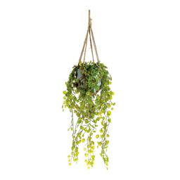 # Hängepflanze 80 cm, Ø 25 cm Textil, im Tontopf