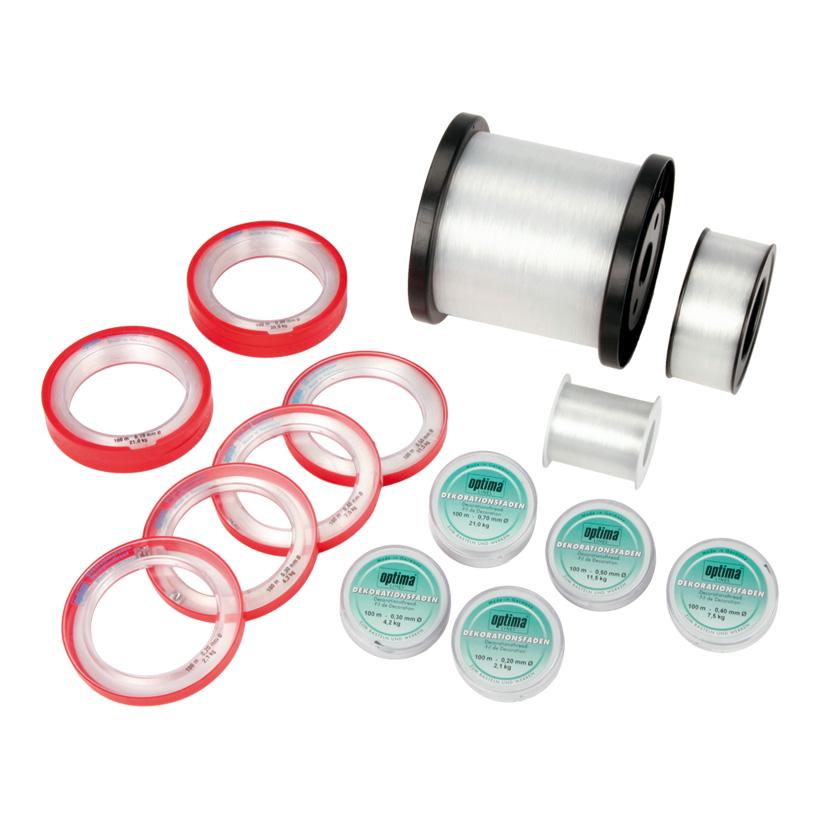 # Perlonfaden, 0,2mm/2,1kg, 100m, Armringspule, Kunststoff