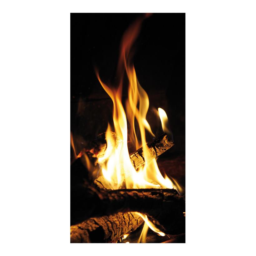 """# Motivdruck """"Feuer"""", 180x90cm Papier"""