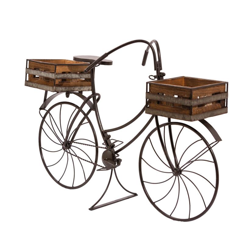 # Fahrrad im Retro-Design, 85cm mit 2 Pflanzenkörben