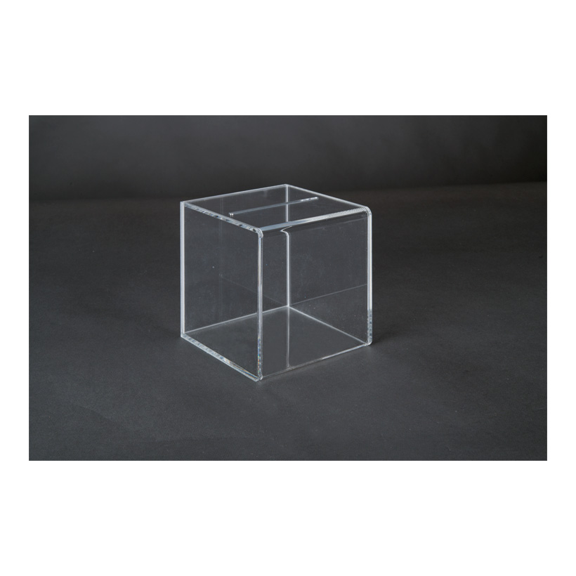 # Acryl-Losbox, 15x15x15cm mit herausnehmbarer Rückwand