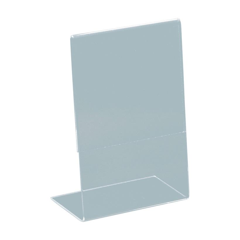 # L-Aufsteller, A6, 15x10,5x5cm, Plexiglas