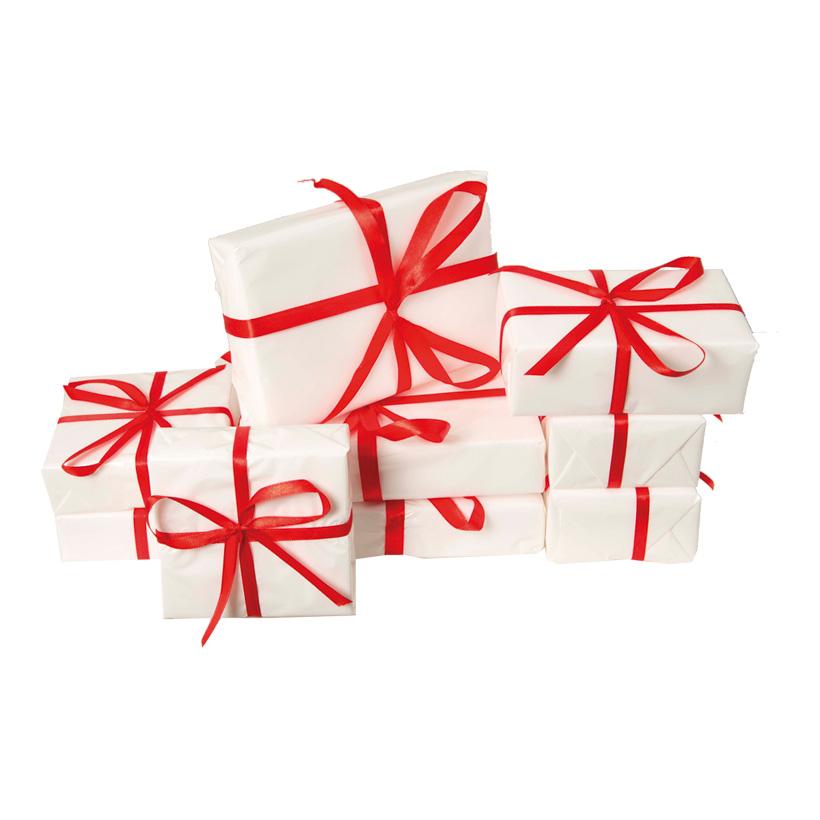 Geschenkpäckchenset, 9x9x3cm, 11x7x4cm, 15x10x3cm, 9-tlg., 3 Größen, Styrofoam/Folie