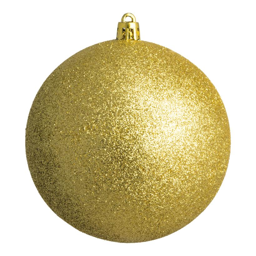Weihnachtskugel, gold glitter, Ø 6cm, 12 St./Blister