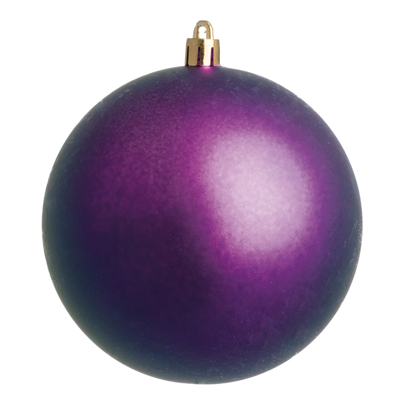 Weihnachtskugeln, violett matt, Ø 6cm 12 St./Blister